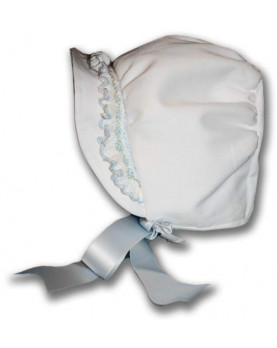 Smocked baby bonnet for christening
