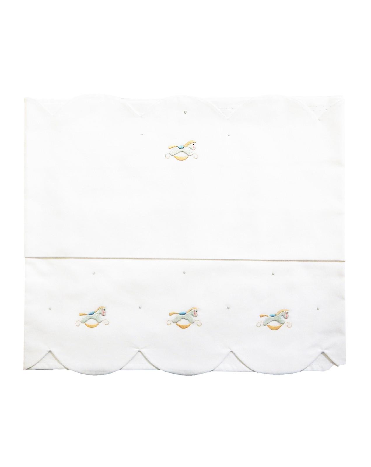 Baby sheet for crib little horses