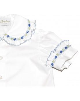 Smocked shirt 1