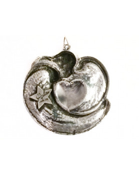"Silver cradle medallion ""Heart"""