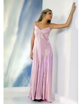 Camicia da notte Calliope in raso di seta
