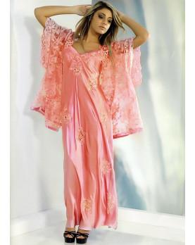Silk macramè Wrap dress Calliope for lady