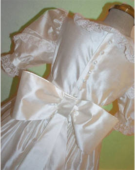 Girl First Communion gown Veronica, back detail