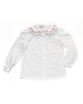 Smocked shirt 3 with floral smock