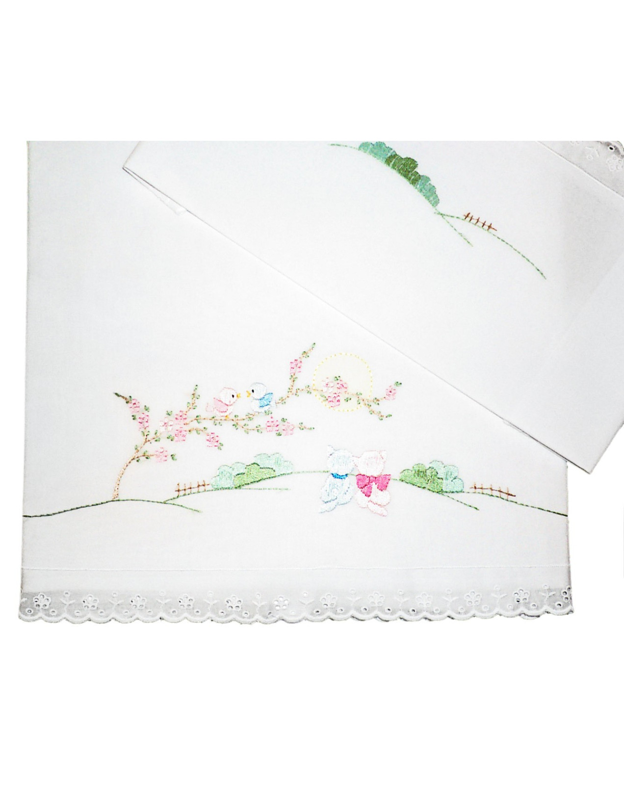 Baby crib and bed ,Sheet and blanket Sunrise hand embroideries