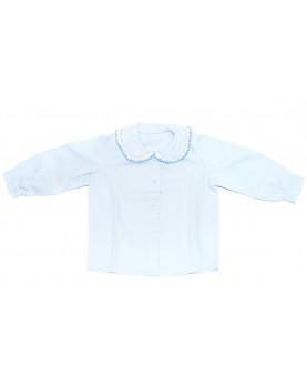 Children smocked shirt 3 pale blue