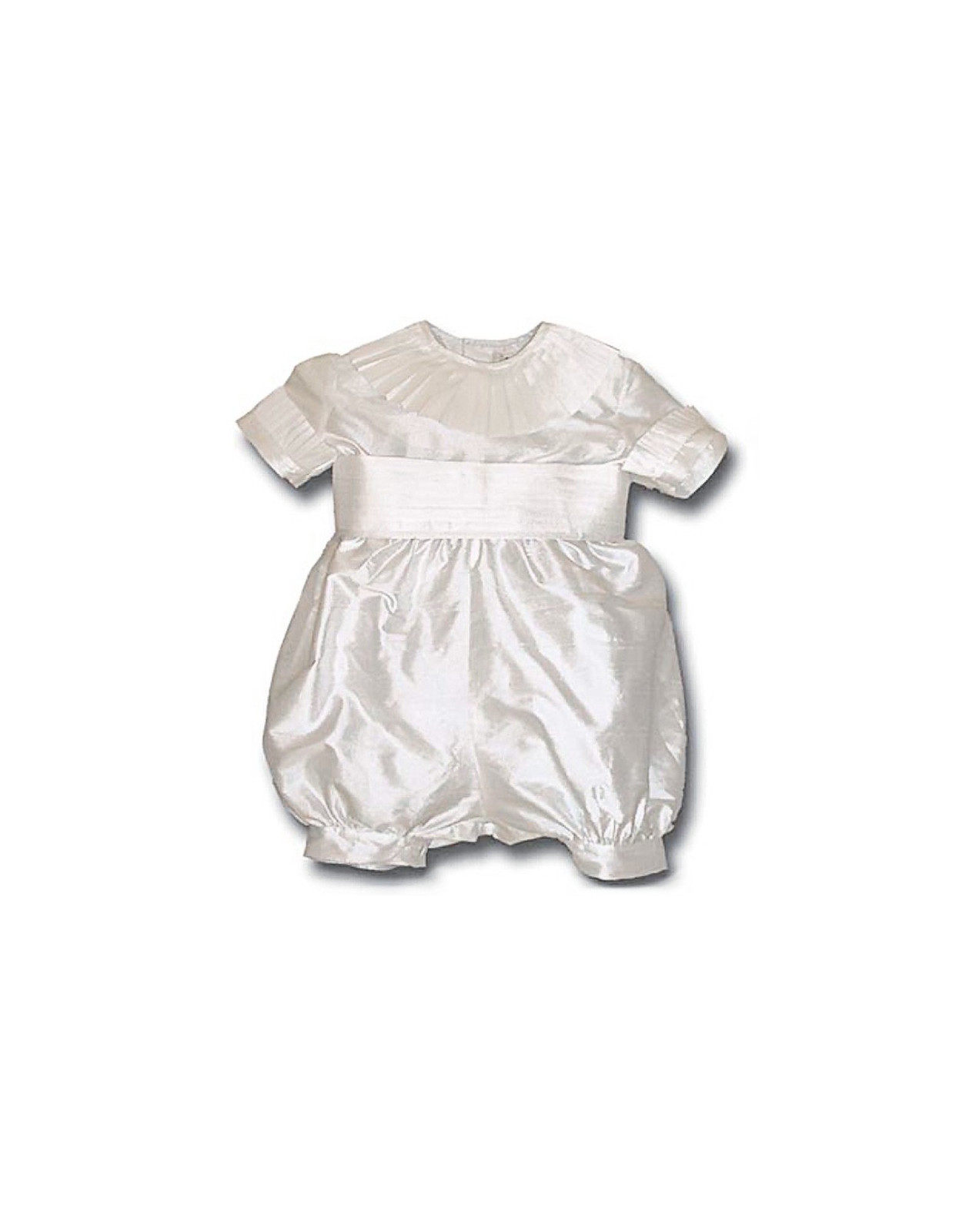 Baby boy christening and baptismal romper Oscar