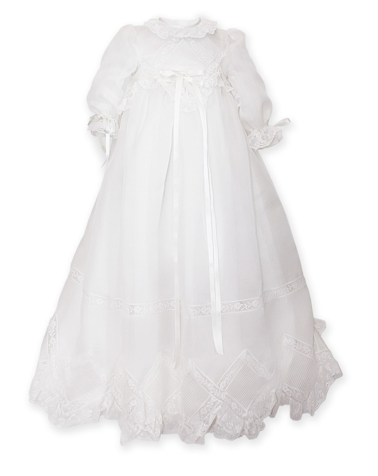 Traditional christening gown with laces Narciso