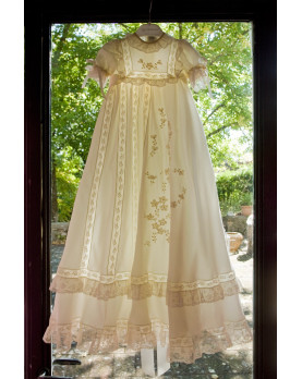 Sunflower christening gown