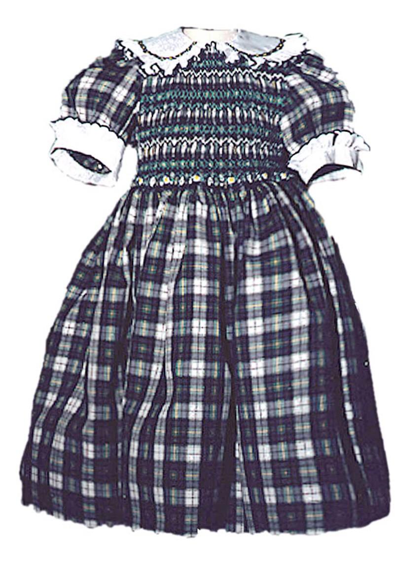 Abito bambina smock scozzese Cornelia