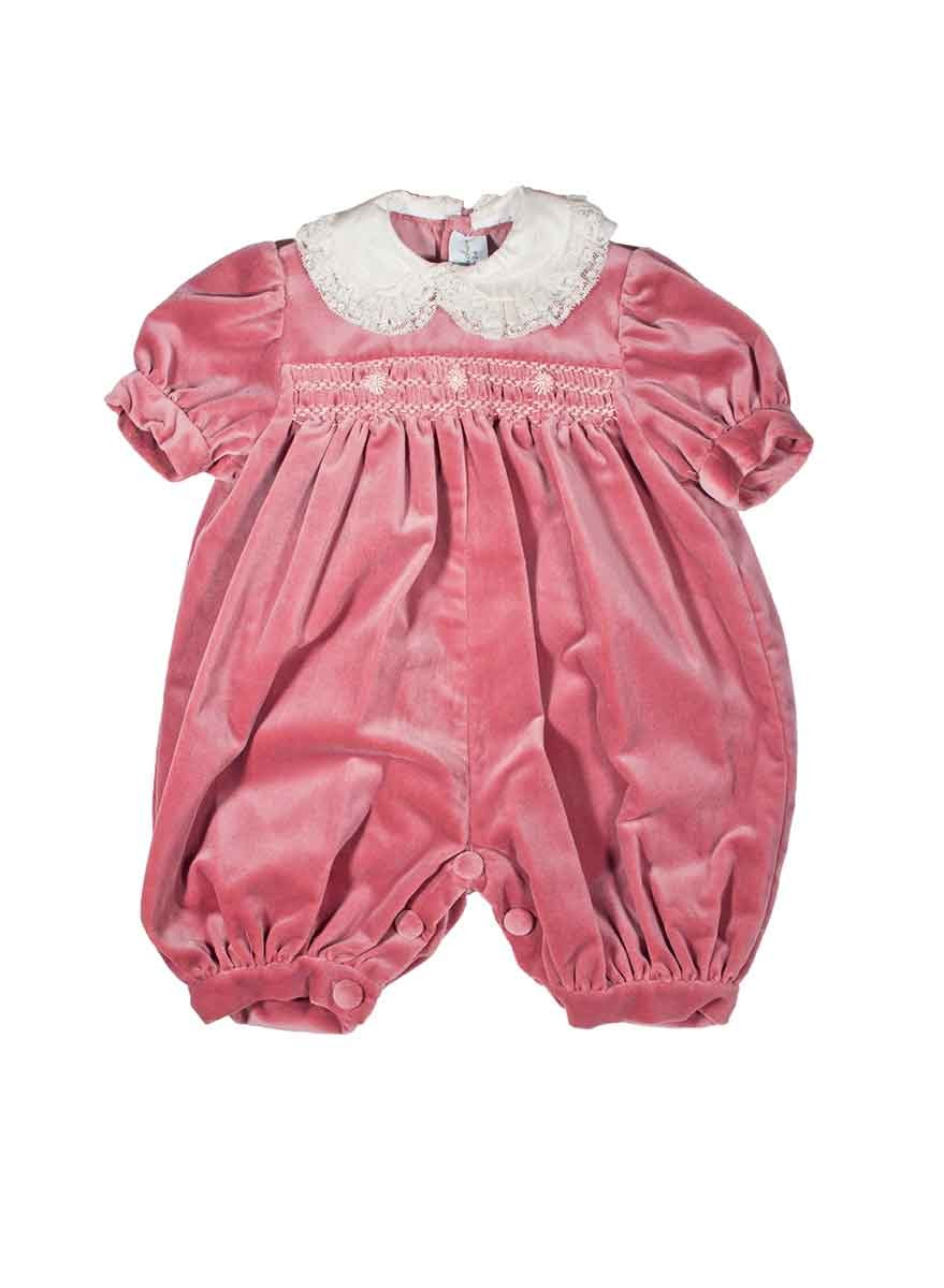 Baby Velvet Smocked Romper Quot Edda Quot