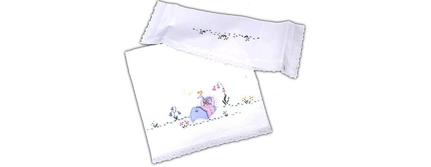 Baby and children sheets -  hand made and embroidered in Italy