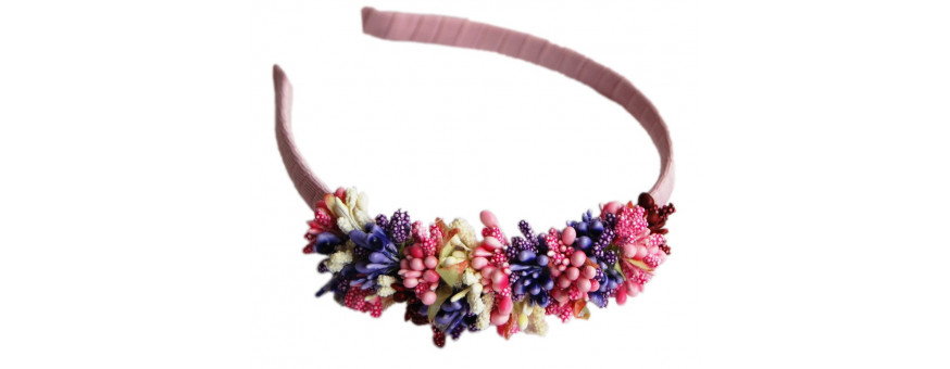 Girl and flower girl headbands and hairstyles