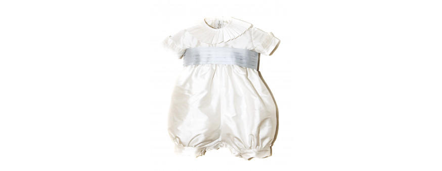 Christening jumpsuits and rompers for boys and girls